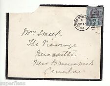 SUPERFLEAS 1894 mourning cover to Canada 2½d  #114 Stony Stratford