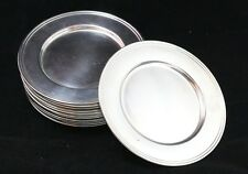 """Set of 16 Wallace and Alvin Sterling Silver Hollowware Bread Plates 6"""""""