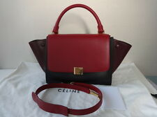 Celine Tri-color Leather TRAPEZE Shoulder bag/w long shoulder strap New