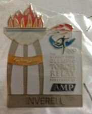 INVERELL Sydney 2000 Olympic Torch Relay AMP Sponsor Cauldron Pin