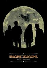 "IMAGINE DRAGONS AUFKLEBER / STICKER # 2 ""NIGHT VISIONS"""