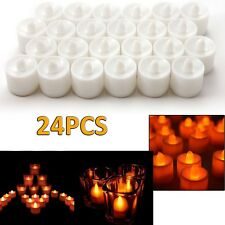 24PCS LED Flameless Tealights Battery Operated Tea Light Candles