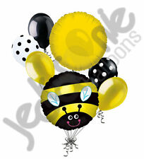 7 pc Happy Buzzy Bee Balloon Bouquet Party Decoration Happy Birthday Baby Shower