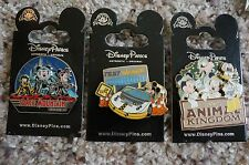 Disney Pins Animal Kingdom Test Track Space Mountain Pin on Pin Set of 3