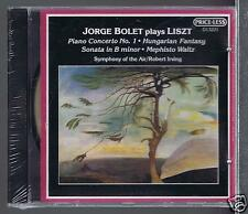 LISZT CD NEW JORGE BOLET PIANO CONCERTO 1/ SONATA IN B/ HUNGARIAN FANTASY