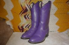 Womens 5 M Laredo Purple Western Cowboy Roper Boots 40216 Medium