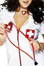 Nurse / Doctor fancy dress costume accessory red heart stethoscope