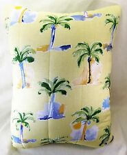 Pillow Decorative Throw or Travel Tropical Palms Pattern