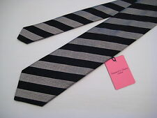 Seaward & Stearn London 100% Silk Neck Tie - Syd Jerome - Black/Silver