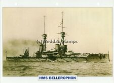 1907 HMS BELLEROPHON Battleship Capital Ship / GB Warship Photograph Maxi Card