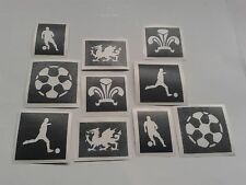 Wales football glitter tattoo stencils   Euros 2016 Welsh player feathers dragon