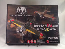Mitsubishi A6M2 Zero Fighter 3D Puzzle Kit Japanese Airplane Green Gift NIB