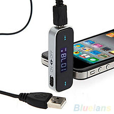 Stunning Wireless Power 3.5mm Car LCD Display FM Transmitter For iPhone 4S 5S 6
