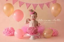 cute baby girl first birthday outfit cake smash tutu and crown
