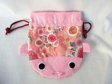 Japanese pattern Kingyo Pouch Kinchaku Goldfish  Kimono Chirimen Crape work