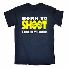BORN TO SHOOT FORCED TO WORK T-SHIRT * CAMERA PHOTOGRAPHER PHOTOGRAPHY TEE