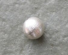 Bali Sterling Silver Brushed Satin Bead 9mm Round