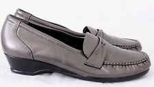 SAS 198042 Easier U.S.A. Pewter Tripad Comfort Moc Toe Loafers Women's U.S. 10 N