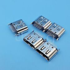 5Pcs HDMI Female 180 Degrees DIP Socket Two Row 19Pin PCB Solder Connector