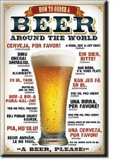 "How to order a Beer Around the World Miniature   2"" X 3"" Sign Magnet"