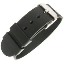 18mm Bonetto Cinturini Italy 298 1-Pc Black Rubber UTC G10 Dive Watch Band Strap