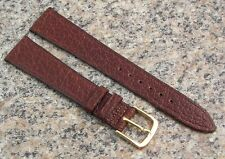 18mm STYLECRAFT Brown WATER BUFFALO Watch Band NOS Strap Made in CANADA #491