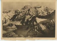 ANTIQUE SNOW CAPPED MOUNT MCKINLEY ALASKA MOUNTAINS ALASKAN OLD ART PRINT