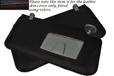 RED STITCH FITS SUZUKI GRAND VITARA 2005-2012 2X SUN VISORS LEATHER COVERS ONLY