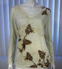 NWT Coldwater Creek Long Sleeve Blouse Size M, Ivory