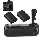 Camera Battery Grip Hand For DSLR Canon EOS 70D As BG-E14 Pack +2X 1800mAh LP-E6