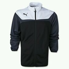 NWT Puma Sport Lifestyle Tricot Esito Track Jacket Black White Contrast Mens XL