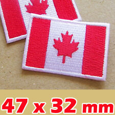 Canada Canadian Flag National Iron On Sew Patch Applique Embroidered Craft DIY