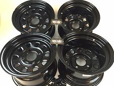 "4 Honda ATV UTV Wheels Set 12"" ITP Delta Steel Black 4/110 5+2 2+5 Honda"