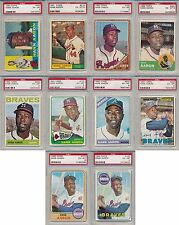 Hank Aaron Braves 10 Card Lot DECADE SET 1960-1969 Topps ALL PSA 6