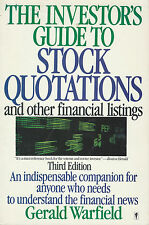The Investor's Guide To Stock Quotations Financial Listings 1990 Paperback Book