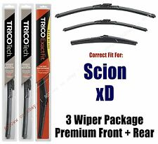 Wipers 3-Pack Premium Front & Rear - fits 2008-2014 Scion xD - 19260/140/8A