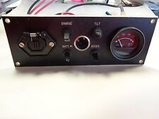"BLACK VOLT GAUGE / TROLLING MOTOR / SWITCH PANEL 9 1/2"" X 3 1/2"" MARINE BOAT"