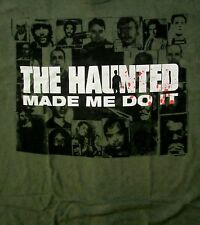 THE HAUNTED cd cvr MADE ME DO IT / SERIAL KILLERS Official SHIRT XXL 2X new