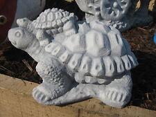 Schilkröte mit Kind Baby Steinfigur massiv Teich Tierfigur frostfest Biotop neu