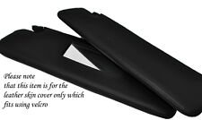 BLACK STITCHING FITS MERCEDES SLK R170 96-04 2X SUN VISORS LEATHER COVERS ONLY