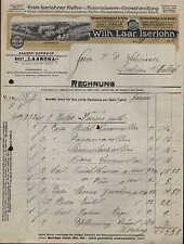 ISERLOHN, Rechnung 1915, Kaffeerösterei u. Waschpulver-Fabrik Wilh. Laar