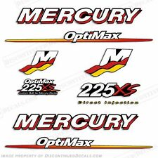 Mercury 225xs Optimax Outboard Engine Decal Kit 2007 2008 2009 225hp Decals