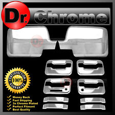 04-08 Ford F150 Chrome Mirror+4 Door Handle+keypad+PSG keyhole Cover COMBO kit