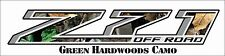 Z71 Decal Chevy GMC Green Hardwoods Camo 4x4 Sierra 1500 2500 3500