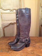 Vintage Womens Frye Carmen Harness Campus Tall Riding Boots Size 6.5 B