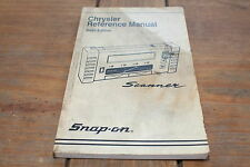 Chrysler 1994 6th Edition Snap-on Automobile Scanner Reference Manual