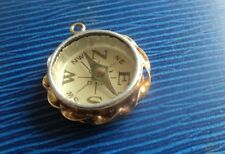 Vintage 9ct Yellow Gold Working Compass Fob Charm or Pendant h/m 1913 London