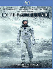 Interstellar (Blu-ray Disc, 2015, 2-Disc Set) Matthew McConaughey Anne Hathaway