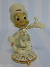 Lenox Disney Porcelain JIMINY CRICKET Pocket Watch FIGURINE 24K Gold Accents NIB