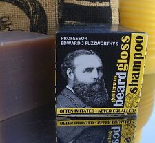 Fuzzworrthy Mens Beard Moustache Shampoo Conditioner Cleanser Wash Care Soap Bar